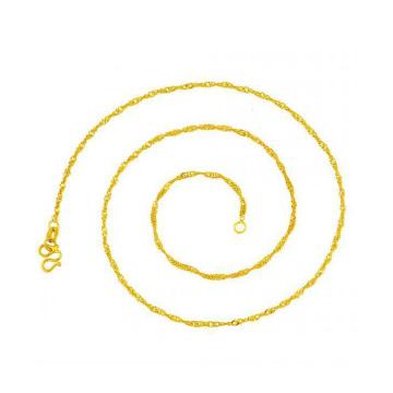 Promoção muito fina corrente de ouro colar, jóias colar de cobre