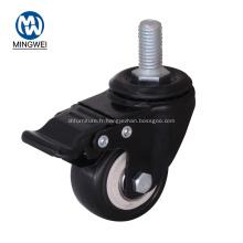 Roulette de meuble industrielle noire, 2 pouces
