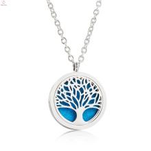 Wholesale Life Tree Aroma Aromatherapy Pendant Oil Diffuser Necklace