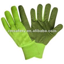 Cotton Canvas Working Garden Glove With PVC Dots