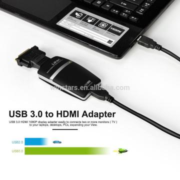 USB 3.0 zu HDMI DVI Adapter, Video Graphics Display Konverter für zusätzliche Monitore