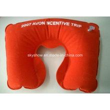 Almohada inflable para el cuello con estampado grande