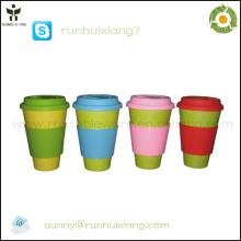2014 новые бамбуковые волокна декоративные кружки кофе