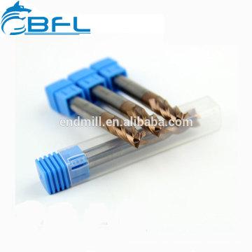 Molino de extremo plano del carburo de tungsteno de BFL, herramientas de corte cuadradas del molino de extremo para el metal
