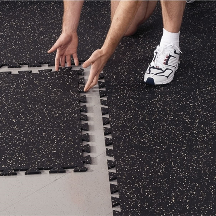 High Density Interlocking Rubber Floor Tiles