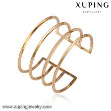 51621- Xuping Newest model cuff bangles women latest designs