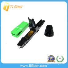 Conector de fibra SC / APC de empalme de calidad