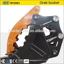 Hydraulic clamshell grab bucket