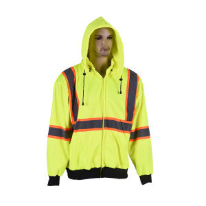high visibility safety man sport sweatshirt
