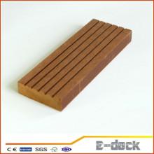 Recycled Anti-UV gebürstete Oberfläche WPC solide Decking Faux Vinyl Bodenbelag