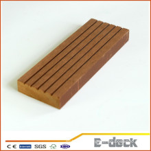 Recycled Anti-UV brushed surface WPC solid decking faux vinyl flooring