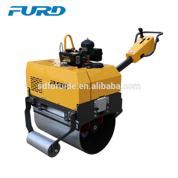 Large Wheel Single Drum Mini Compactor Roller with Imported Pump (FYL-750)