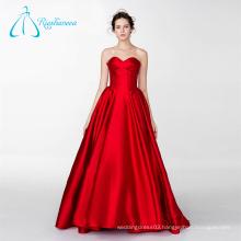 Customized Design Pleat Satin Ball Gowns Bridal Wedding Dress