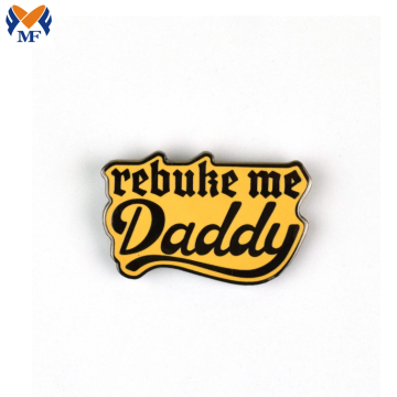 Pin Enamel Daddy Custom Metal Logam Kecil