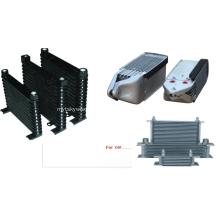Refrigerador de óleo de camadas empilhadas de alumínio para automóveis e motocicletas
