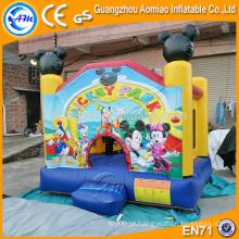 Fornecedor inflável inflável da fábrica do bouncer, casa de salto inflável do mickey mouse surpreendente