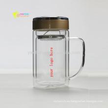 Borosilicato de la oficina BlassTea Cups / Tazas con filtro de vidrio / Filtro / Infuser Logotipo personalizado de impresión