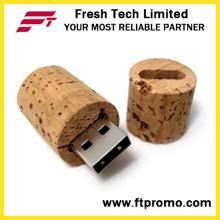 USB-флеш-накопитель Bamboo & Wood с цилиндрической формой (D831)