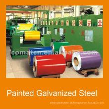 bobinas de aço galvanizadas pré-pintadas PPGI