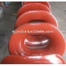 Oval casting steel mooring pipe