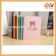 Diário e caderno de viagem memorável, caderno de impressão de design personalizado com páginas coloridas