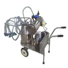Máquina de ordeño de vaca de cabra de cubo doble de acero inoxidable