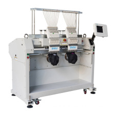 QS-1202C double Head Computerized Embroidery Machine Dahao Computer for T shirt logo label hat Embroidery Machine