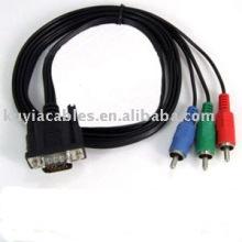 VGA / HD15 / SVGA / RGB à 3 RCA COMPONENT TV / HDTV CABLE