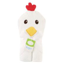 bebê com capuz design simples com capuz toalha recém-nascido