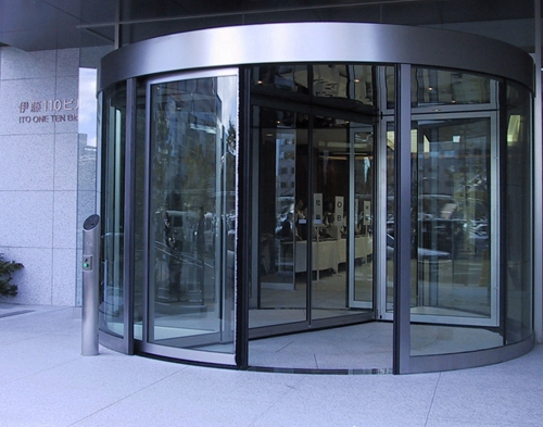 Two-wing Automatic Revolving Doors for Company Entrances