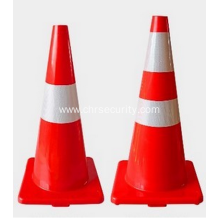 450mm TPE Plastic Flexible Traffic Cone Reflective Road Safety Cone