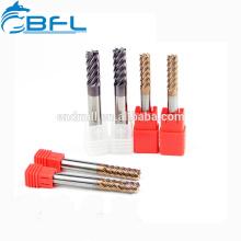 Carbide 6 Flute Finishing Milling Tool. Finishing Endmill TiSiN Coating