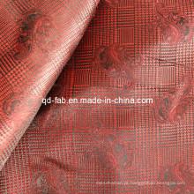 100% poli fio tingido de jacquard vermelho (JF-4)
