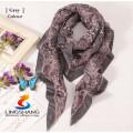 Lingshang novo design senhora pura acrílico handmade malha triangular anexado bowknot lenço