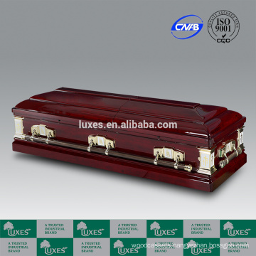 LUXES Red Wooden Casket Goodwill From Casket Manufacturer