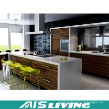 Madera de la melamina muebles de los gabinetes de cocina de la nuez (AIS-K184)