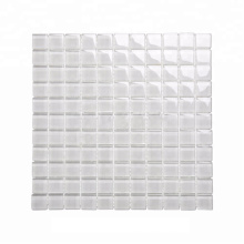25mm White Color Square Glass Mosaic for Wall Decoration