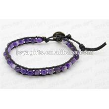 Freundschaftsverpackung Armbänder mit Amethyst Stein Perlen