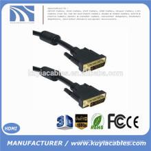 DVI-D 24 + 1-контактный кабель Dual Link DVI между мужчинами с 2 жилами Gold 1.8m