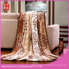 Design de árvore 100% poliéster flanela cobertores de lã