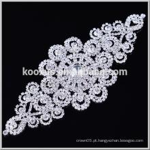 Flatback remendo de cristal rhinestone transparente costurar bling applique para sacos e roupas