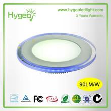 Usine de Shenzhen 2015 ventes chaudes Round Blue + couleur blanche led panneau de lumière 10w 15w 20w Dimmable Changement de couleur led panel light price