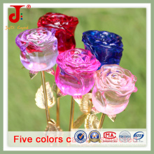 Petite taille Crystal Bud Rose Décoration Fleur (JD-CF-104)