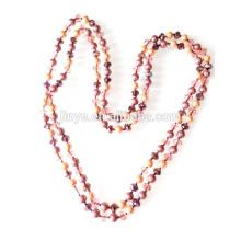 Collier de perles en perles de cristal nouées à la main