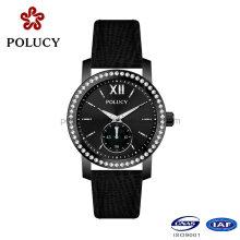 Usine OEM noir couleur montre-bracelet pour femmes