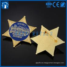 Insignia militar de encargo de la estrella del casquillo de la alta calidad