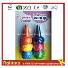 3D Animal Finger Crayon 6PCS for Kids Paint Gift
