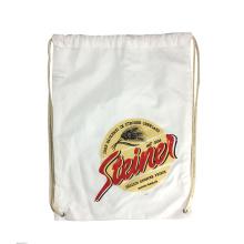 12oz 100% cotton canvas plain drawstring tote bags