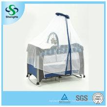 Lit bébé en aluminium pliable avec moustiquaire élevée (SH-A1)
