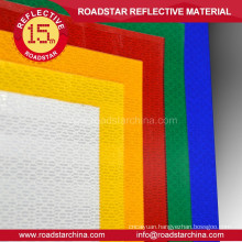 Rhombic microprismatic safety reflective sheeting
